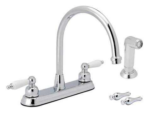 2 Kitchen Faucet With Sprayer Flo Faucets F8f11028cp 2 Handle Chrome Kitchen