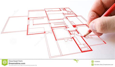 draw plan house plan drawing stock image image of drawing draw 14038005