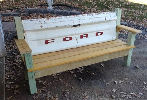 bench made from tailgate tailgate bench the garage journal board tail gates