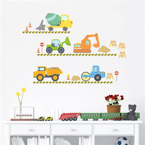 wall stickers city construction printed wall decal