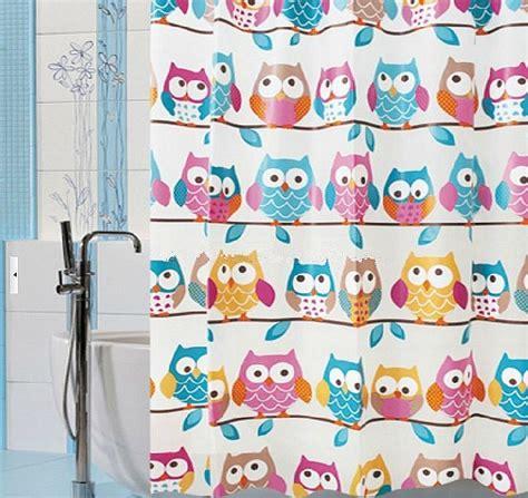 owl peva shower curtain aliexpress com buy owl peva shower curtain waterproof