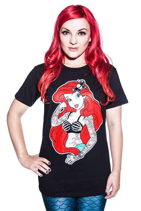 tattooed ariel shirt twisted disney ariel mermaid t shirt