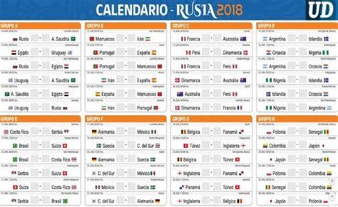 copa mundial 2018 horarios descarga aqu 237 el calendario de partidos mundial de