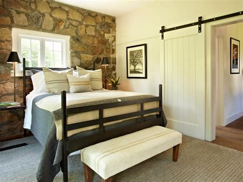 stone accent wall bedroom photo page hgtv