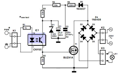 transistor mosfet pwm circuito de dimmer usando transistor mosfet
