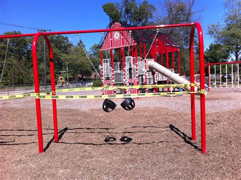 playground with swings sneak peak at new swing set