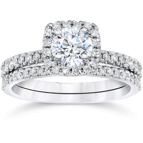 Wedding Rings Real Diamonds by 5 8ct Cushion Halo Real Engagement Wedding Ring