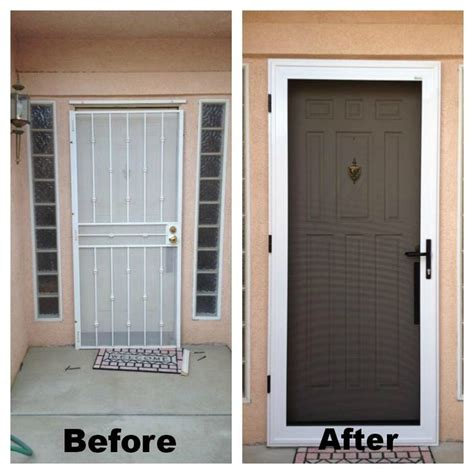 guarda security screen door before after they also