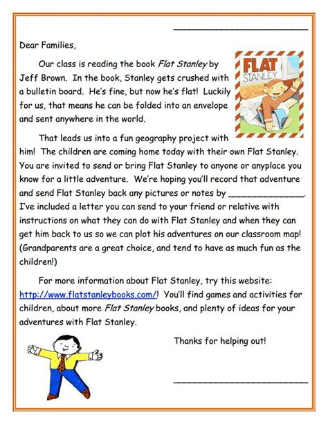 Response Letter Exercises 17 Best Images About Flat Stanley On Reading Response Flats And Activities