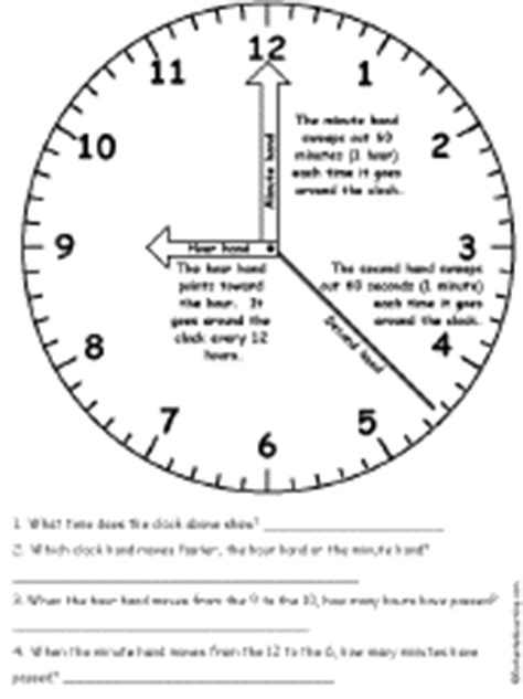 printable clock hands only clock hands with quiz enchantedlearning com