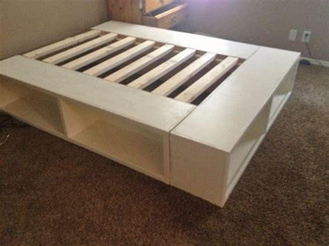 diy pallet bed with storage tutorial best 25 diy bed frame ideas on bed ideas pallet platform bed and rustic bed frames