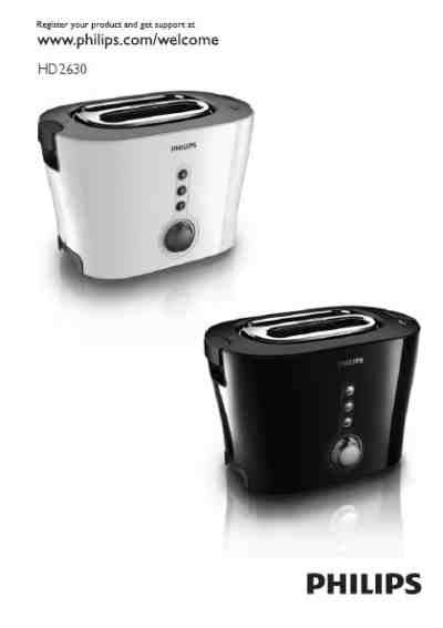 Toaster Philips Hd 2630 philips hd 2630 toaster manual for free now