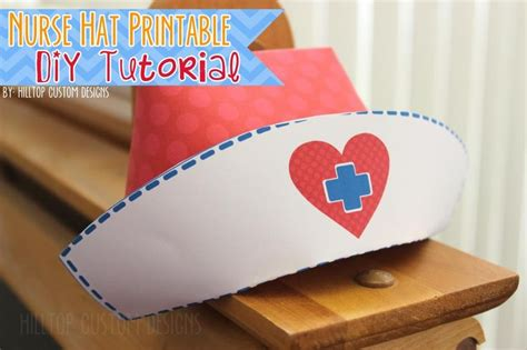 hilltop custom designs updated diy nurse hat tutorial