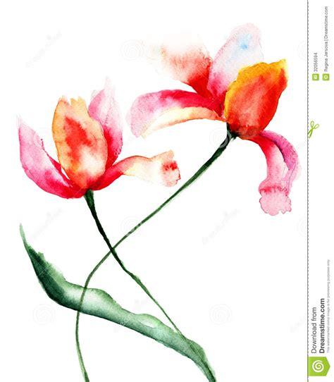 clipart fiori stilizzati fiori stilizzati dei tulipani illustrazione di stock