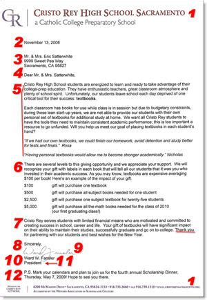 fundraising donation letter template 12 items to include