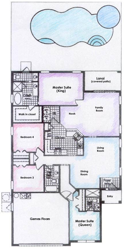 floor plan description woodlands disney villa luxury villa in ridge florida near disney world