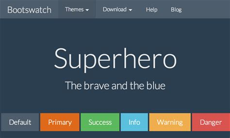 bootstrap themes free blue bootswatch free themes for bootstrap