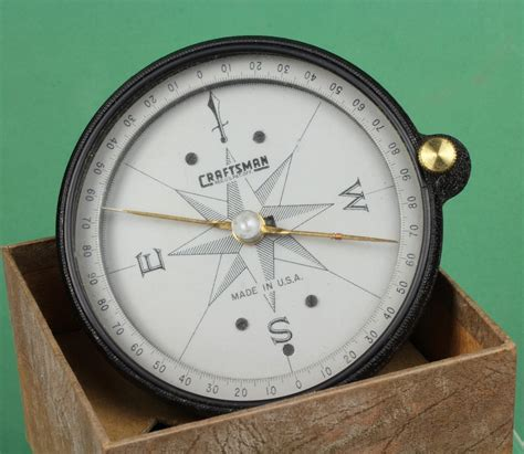 Surveyors L by Vintage Craftsman Surveyors Compass In Original Box From Goodbee On Ruby