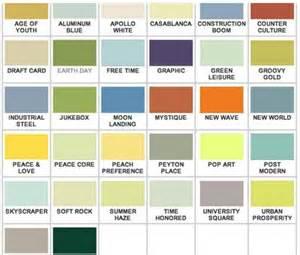 California Colors Mid Century Colors Mid Century Paint Colours