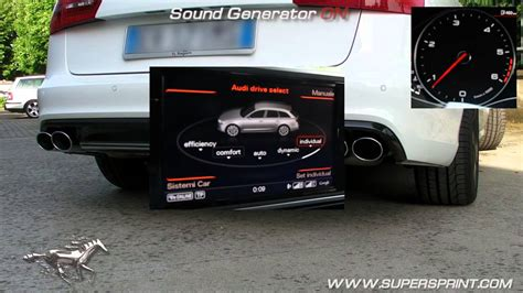 audi s7 sound audi a6 4g 3 0 bitdi with sound generators supersprint
