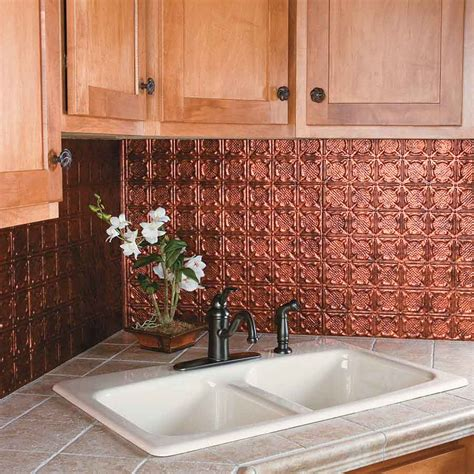 Metal Backsplash Tiles For Kitchens Kitchen Dining Metal Frenzy In Kitchen Copper