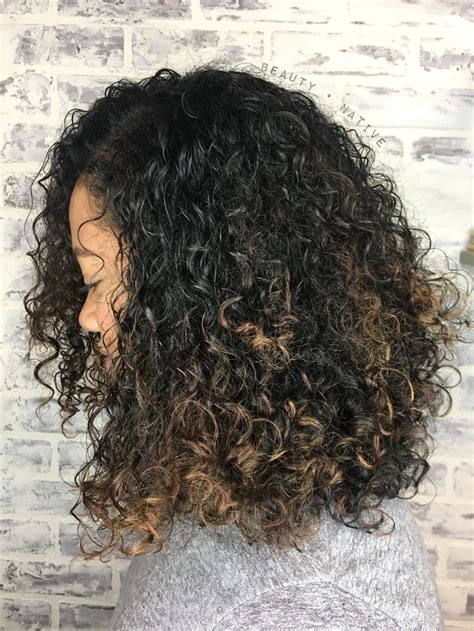 naturally thick black curly hair styles with bayalage color balayage on natural curly hair natural textured hair