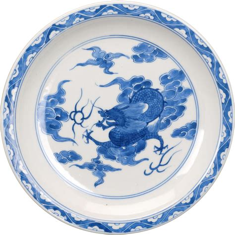 blue pattern porcelain japanese blue and white porcelain plate with a dragon