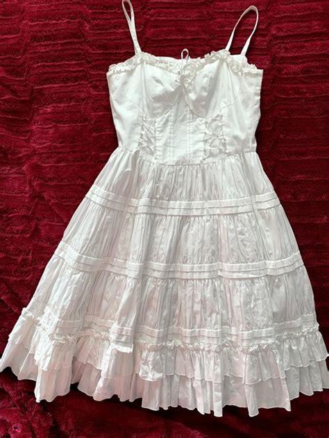 victorian maiden cotton gather  jsk dresses lace