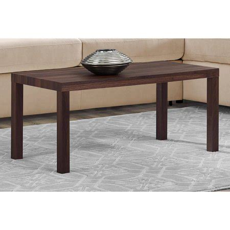 walmart com coffee table mainstays parsons rectangular sturdy coffee table canwal