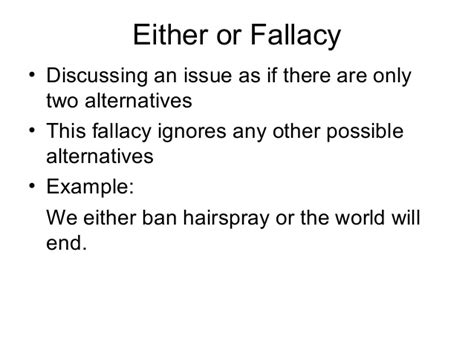 Logical Fallacy Essay Exles by Logical Fallacy Exles