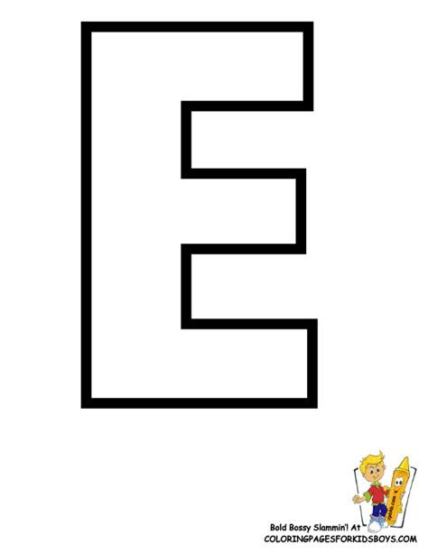 E Coloring Page Printable by Classic Alphabet Printables Learning Letters Free