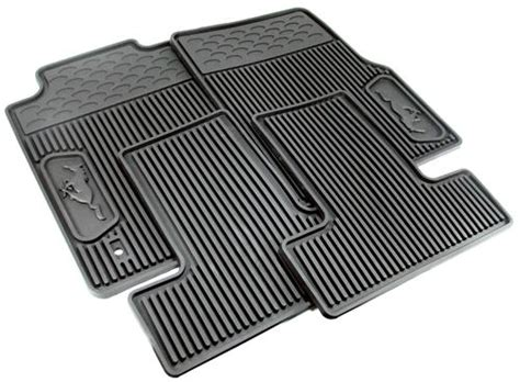 Rubber Mustang Floor Mats mustang rubber floor mats with pony logo 05 09