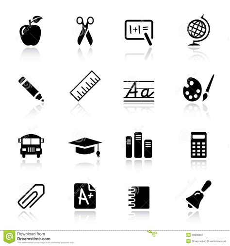 coloring school icons royalty free stock photos image basic school icons royalty free stock photography