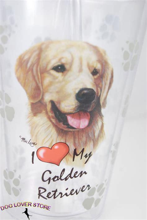 golden retriever water bottle golden retriever walled reusable acrylic tumbler water bottle w straw