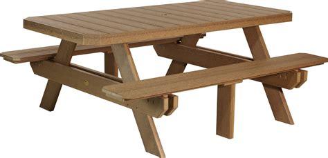 6 rectangular table luxcraft 6 rectangular picnic table amish yard
