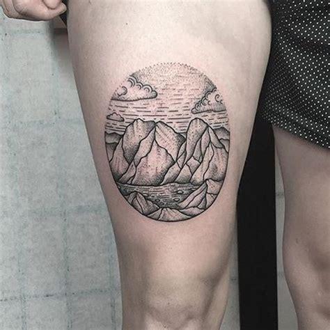 Wonderful Mountain Scenery Tattoos