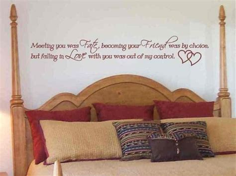 Wall Stickers For Master Bedrooms by Wall Sticker Decal Meeting You Was Fate Master Bedroom