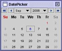 swing date picker download date picker netbeans java software java swing