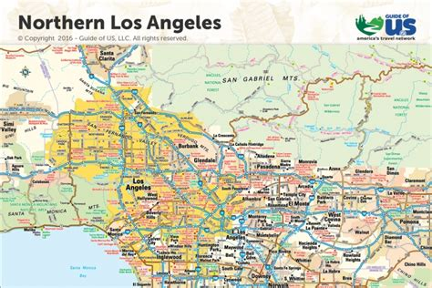 map los angeles los angeles california maps