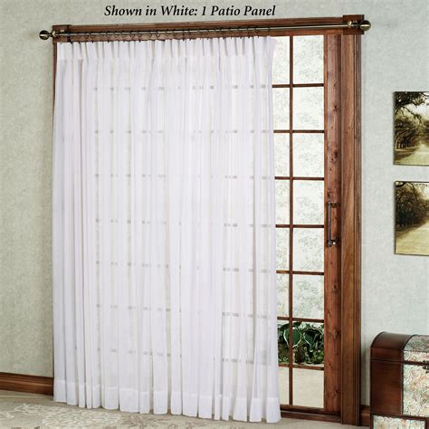 Sheer Patio Door Curtains Splendor Semi Sheer Pinch Pleat Patio Panel