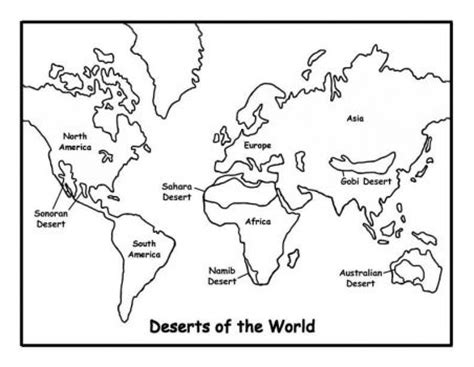printable world map multiple pages deserts of the world smart kids school stuff