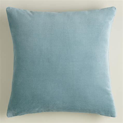 Blue And Throw Pillows Steel Blue Velvet Throw Pillow World Market
