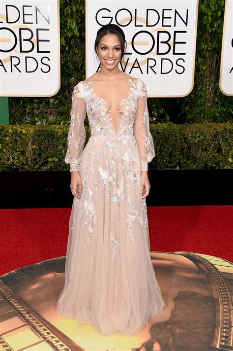 10 And Golden Globe Dresses To Crush On by Corinne Foxx Best Dressed At The 2016 Golden Globes