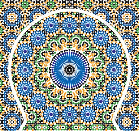 moroccan pattern ai moroccan arabic pattern mosaic on behance