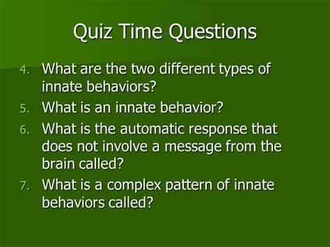 behavior pattern questions chapter 16 animal behavior ppt video online download