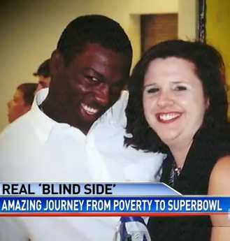 Blind Side Football Player Baltimore Ravens Super Bowl Real Life Blind Side Players Are Survivors