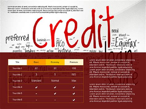 Credit Rating Template Credit Rating Presentation Template For Presentations In Powerpoint And Keynote Ppt