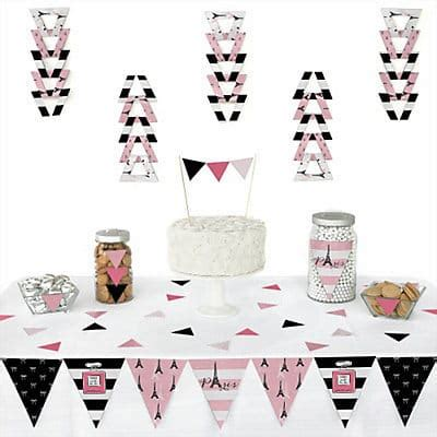 paris themed party kit pink paris damask party girls birthday party ideas