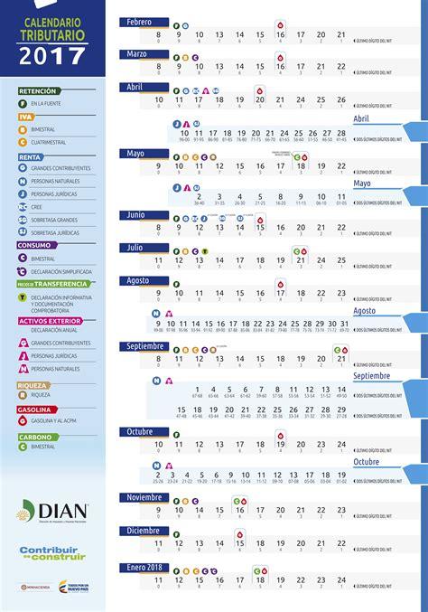 calendario tributario 2016 colombia calendario declaracion de renta 2016 colombia calendario