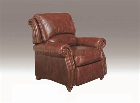 Leather Push Back Recliners by Leather Italia Classic Brown Hanover Push Back Recliner